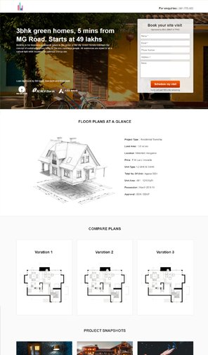 Real estate landing page template | Lead capture automation